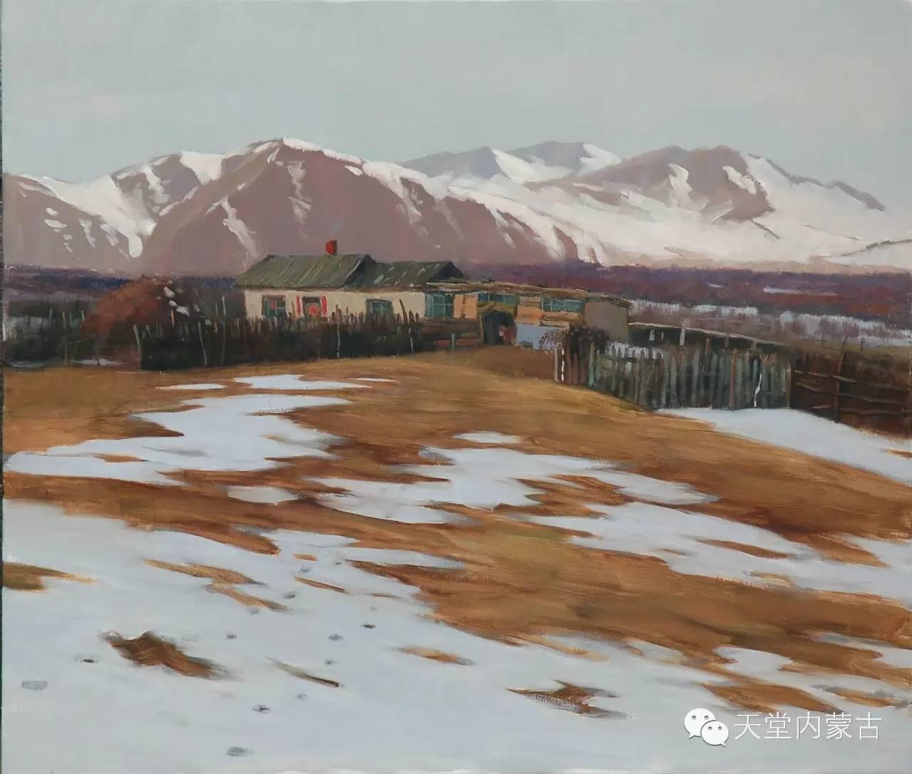 内蒙古油画家朝鲁门-油画作品 第2张