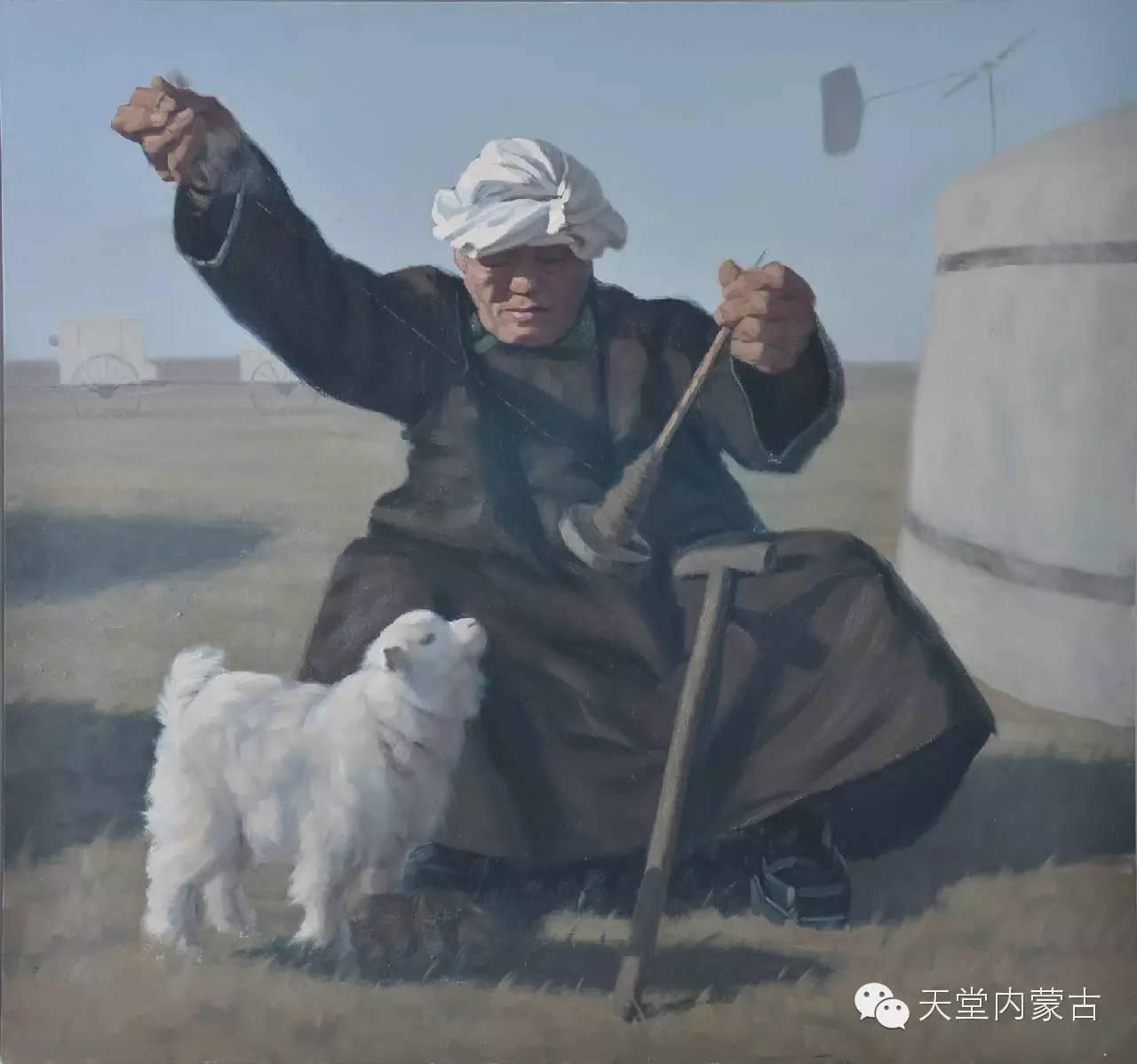 内蒙古油画家朝鲁门-油画作品 第7张