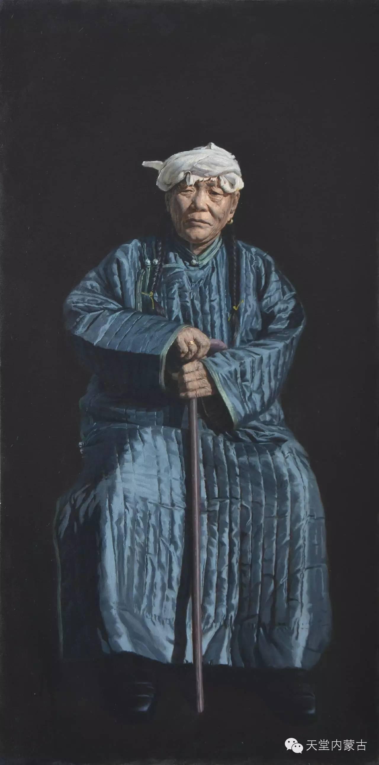 内蒙古油画家朝鲁门-油画作品 第5张