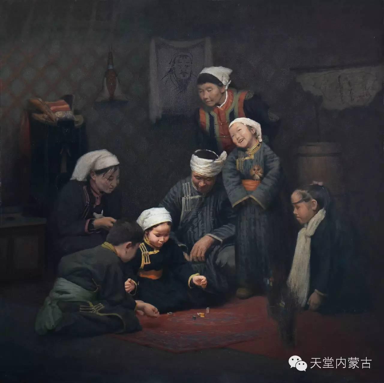 内蒙古油画家朝鲁门-油画作品 第8张