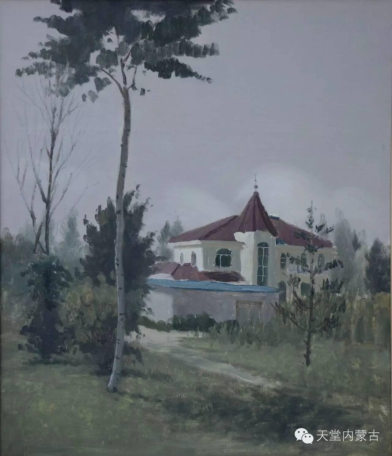 内蒙古油画家朝鲁门-油画作品 第11张