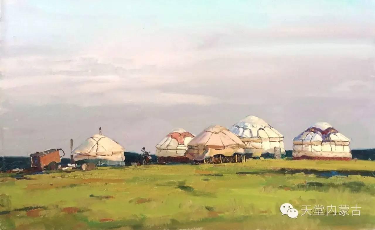 🔴内蒙古油画家张项军作品 第16张