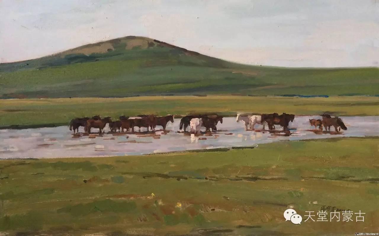 🔴内蒙古油画家张项军作品 第18张