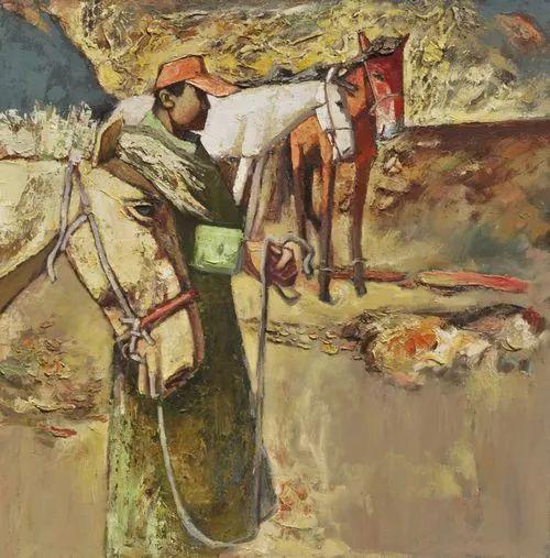 内蒙古画家博阿斯巴根油画作品欣赏 第3张