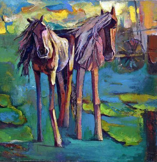 内蒙古画家博阿斯巴根油画作品欣赏 第4张