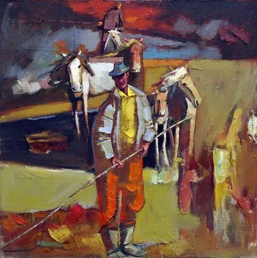 内蒙古画家博阿斯巴根油画作品欣赏 第6张
