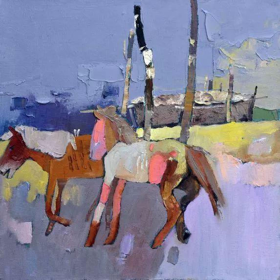 内蒙古画家博阿斯巴根油画作品欣赏 第8张
