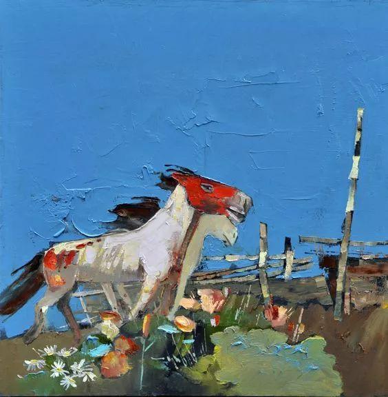 内蒙古画家博阿斯巴根油画作品欣赏 第7张