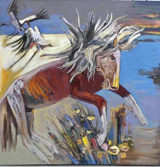 内蒙古画家博阿斯巴根油画作品欣赏 第12张