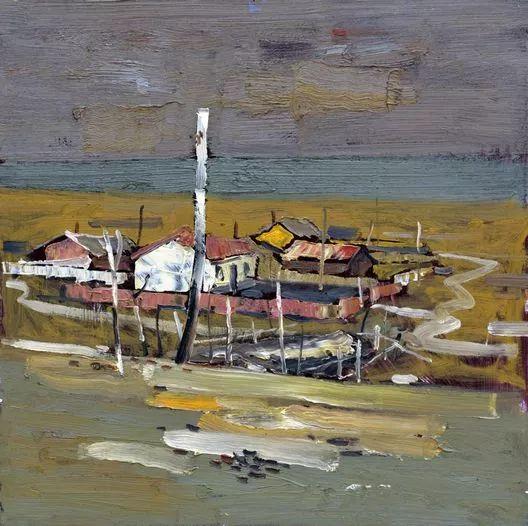 内蒙古画家博阿斯巴根油画作品欣赏 第10张