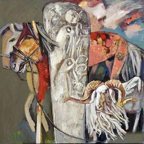 内蒙古画家博阿斯巴根油画作品欣赏 第11张