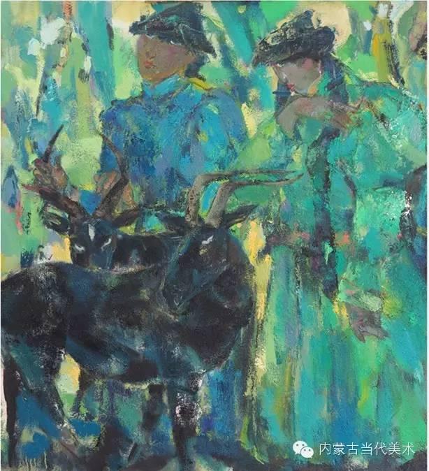 内蒙古当代美术家 乌吉斯古楞与她的布里亚特系列油画创作 第1张