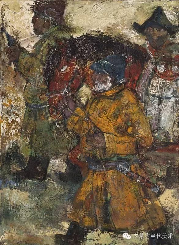 内蒙古当代美术家 乌吉斯古楞与她的布里亚特系列油画创作 第9张