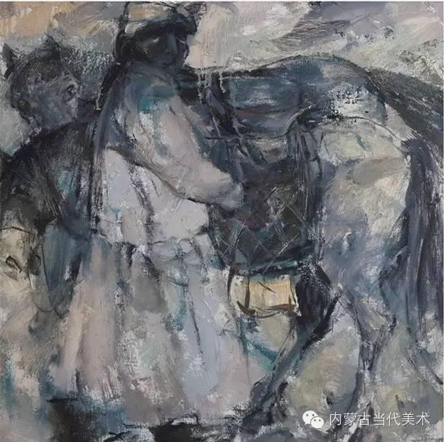 内蒙古当代美术家 乌吉斯古楞与她的布里亚特系列油画创作 第10张