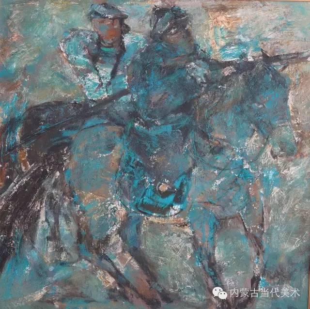 内蒙古当代美术家 乌吉斯古楞与她的布里亚特系列油画创作 第7张