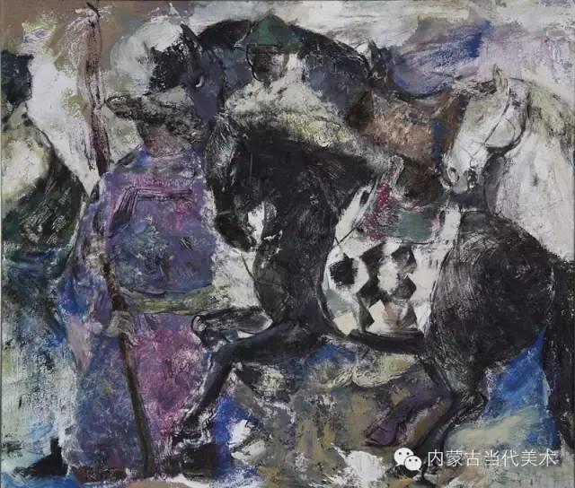 内蒙古当代美术家 乌吉斯古楞与她的布里亚特系列油画创作 第11张
