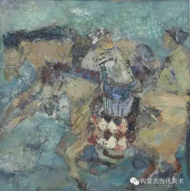 内蒙古当代美术家 乌吉斯古楞与她的布里亚特系列油画创作 第8张