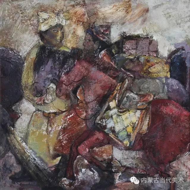 内蒙古当代美术家 乌吉斯古楞与她的布里亚特系列油画创作 第12张