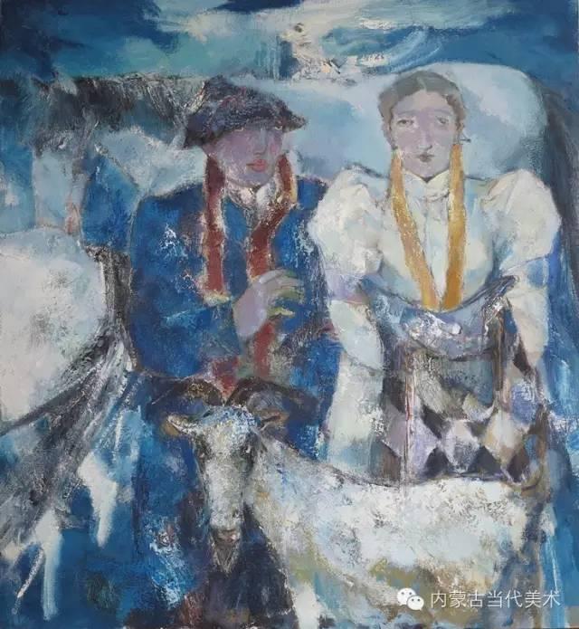 内蒙古当代美术家 乌吉斯古楞与她的布里亚特系列油画创作 第14张