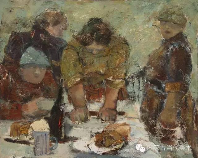 内蒙古当代美术家 乌吉斯古楞与她的布里亚特系列油画创作 第16张