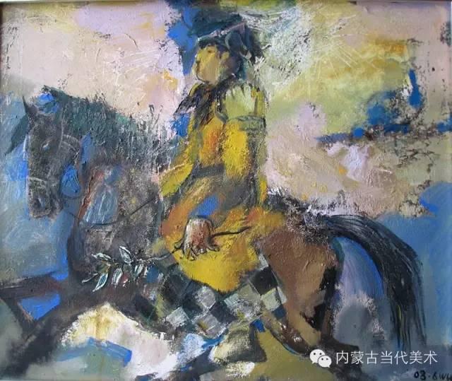 内蒙古当代美术家 乌吉斯古楞与她的布里亚特系列油画创作 第13张