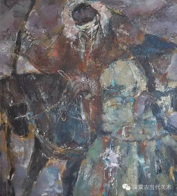 内蒙古当代美术家 乌吉斯古楞与她的布里亚特系列油画创作 第20张