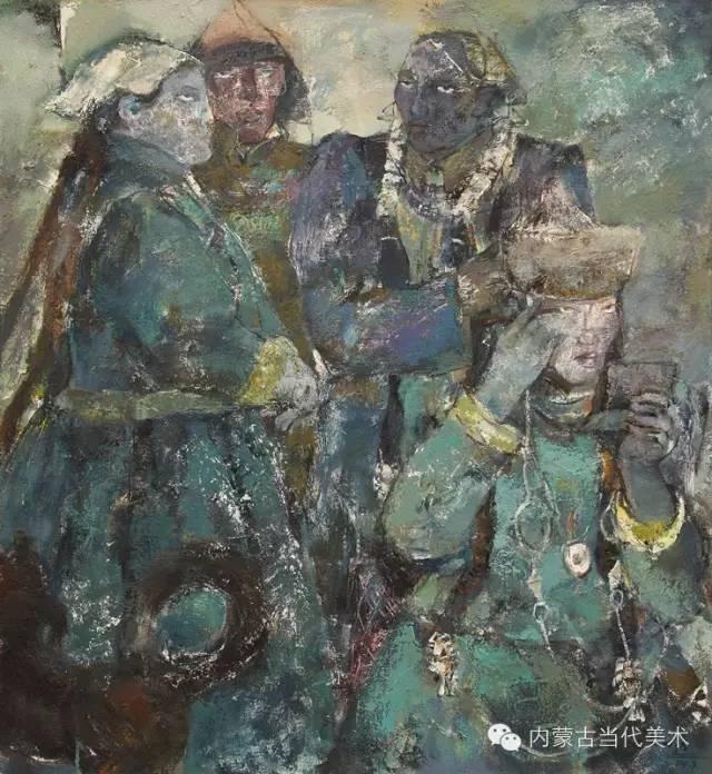 内蒙古当代美术家 乌吉斯古楞与她的布里亚特系列油画创作 第18张