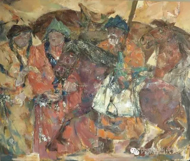 内蒙古当代美术家 乌吉斯古楞与她的布里亚特系列油画创作 第19张
