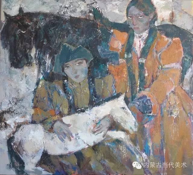 内蒙古当代美术家 乌吉斯古楞与她的布里亚特系列油画创作 第21张