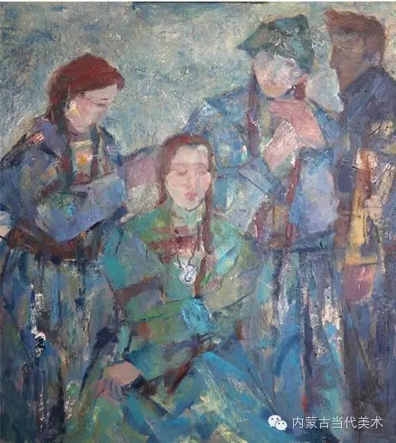 内蒙古当代美术家 乌吉斯古楞与她的布里亚特系列油画创作 第22张