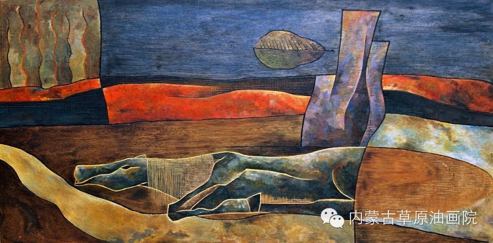 内蒙古草原油画院画家--格日勒图 第2张