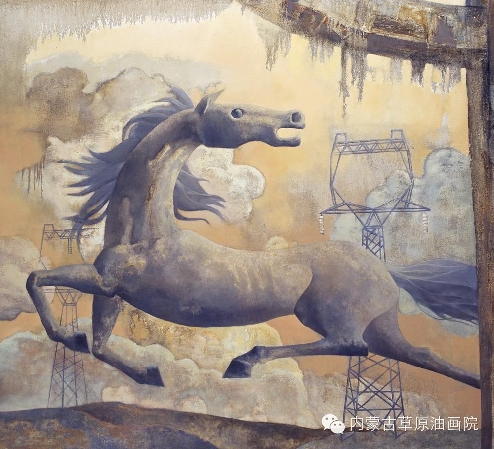 内蒙古草原油画院画家--格日勒图 第1张