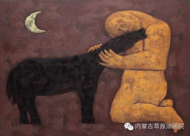 内蒙古草原油画院画家--格日勒图 第4张