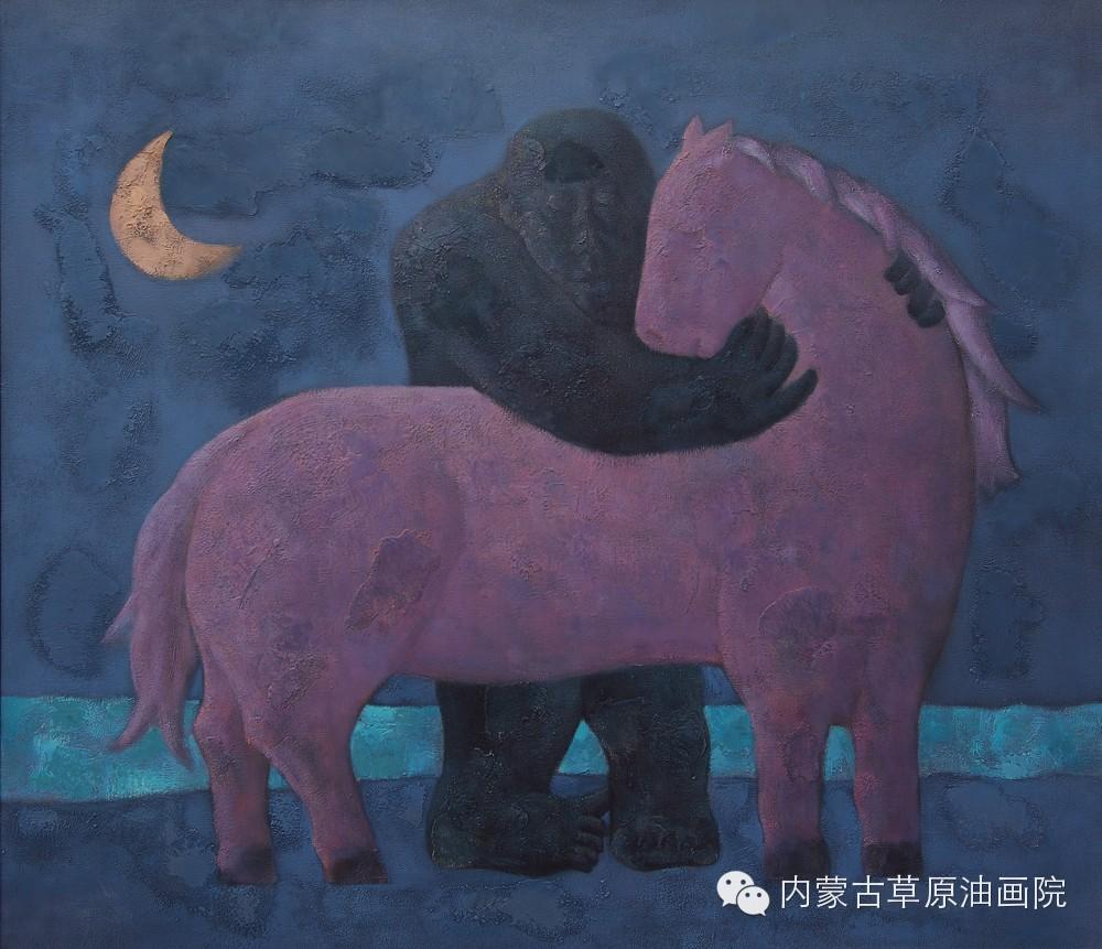 内蒙古草原油画院画家--格日勒图 第5张