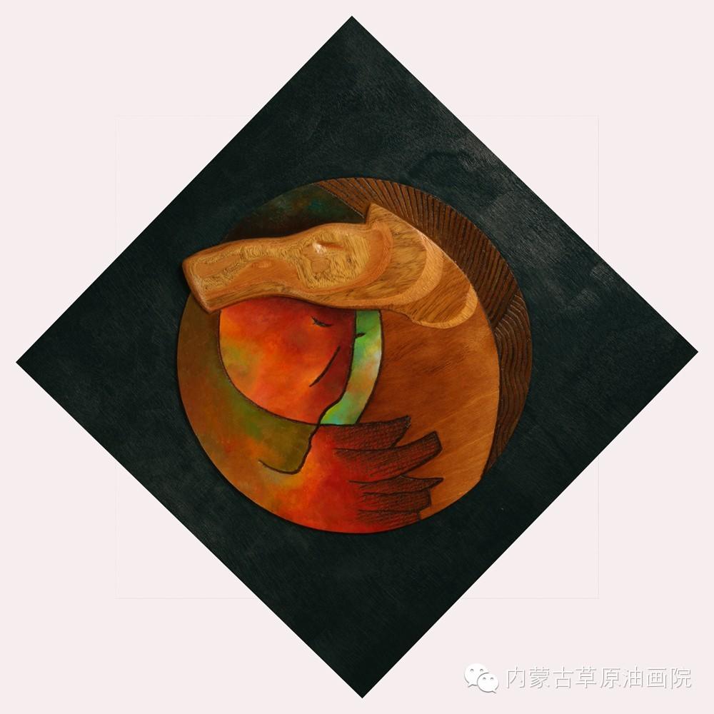 内蒙古草原油画院画家--格日勒图 第3张
