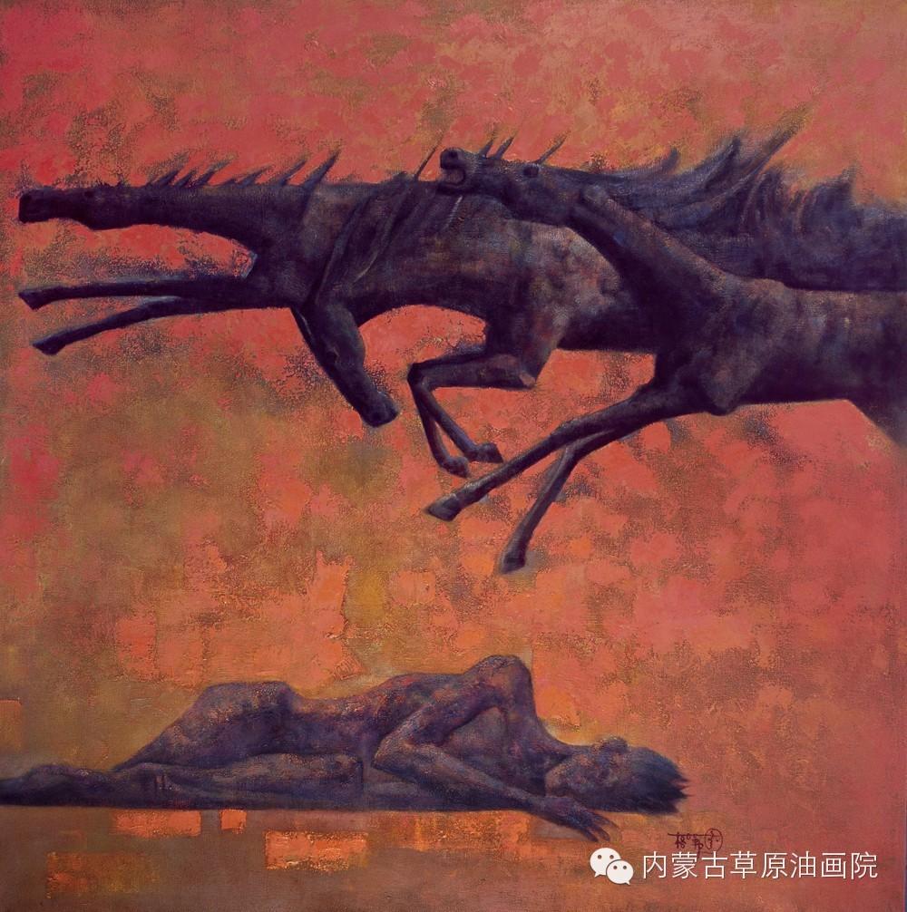 内蒙古草原油画院画家--格日勒图 第6张