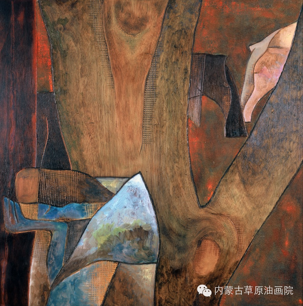 内蒙古草原油画院画家--格日勒图 第7张