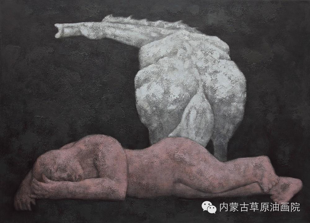 内蒙古草原油画院画家--格日勒图 第8张