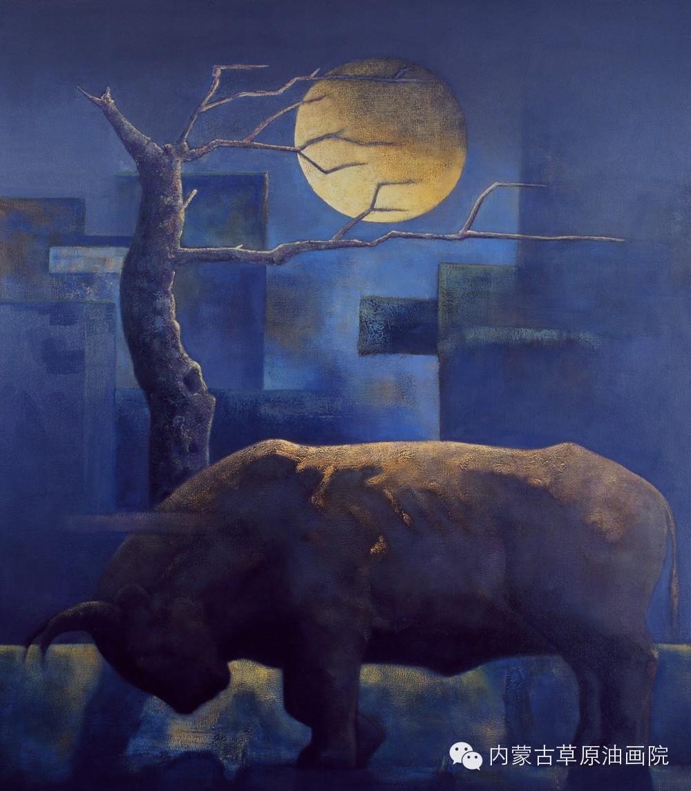 内蒙古草原油画院画家--格日勒图 第11张