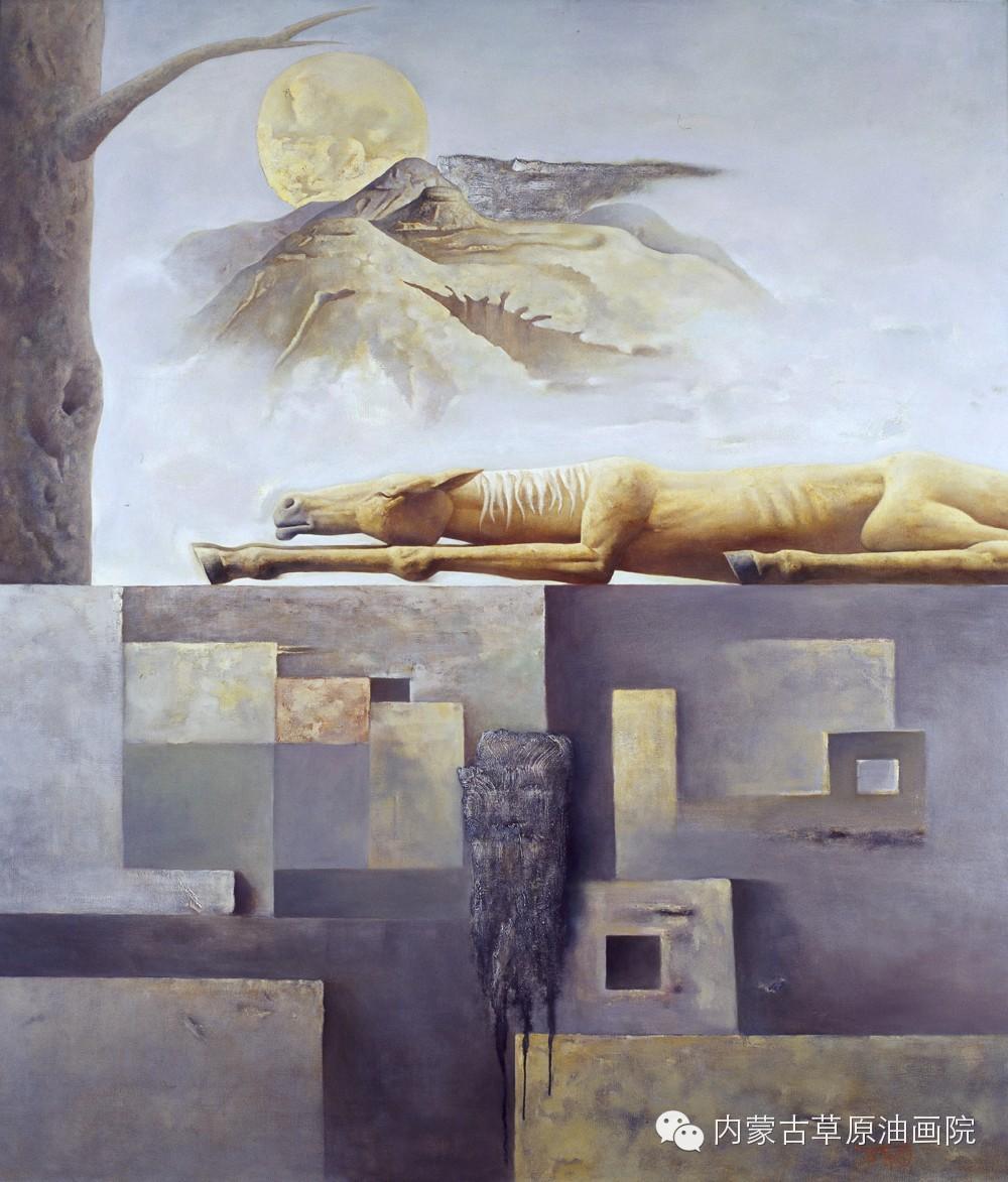 内蒙古草原油画院画家--格日勒图 第12张