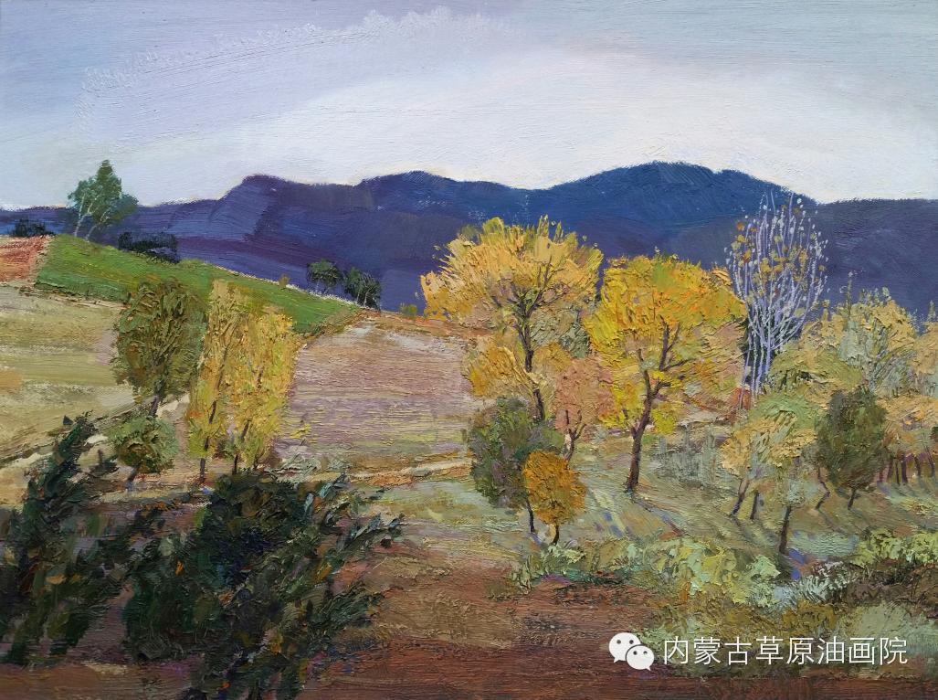 内蒙古草原油画院画家-布和朝鲁 第6张