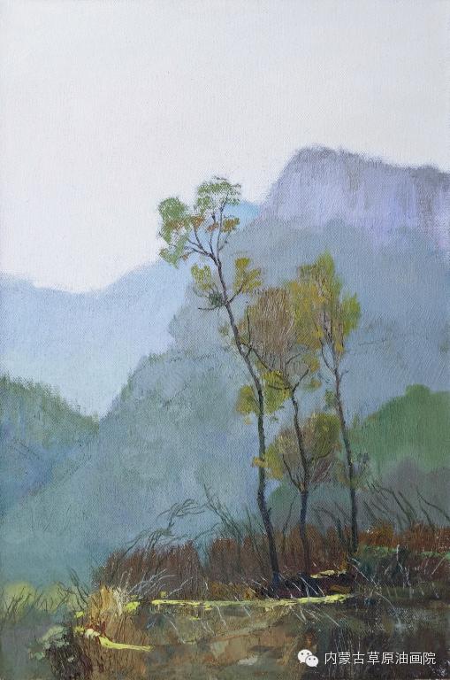 内蒙古草原油画院画家-布和朝鲁 第26张
