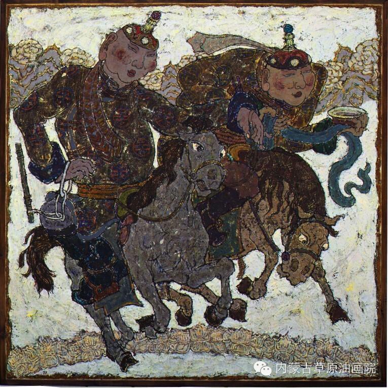 内蒙古草原油画院画家--哈斯乌拉 第2张