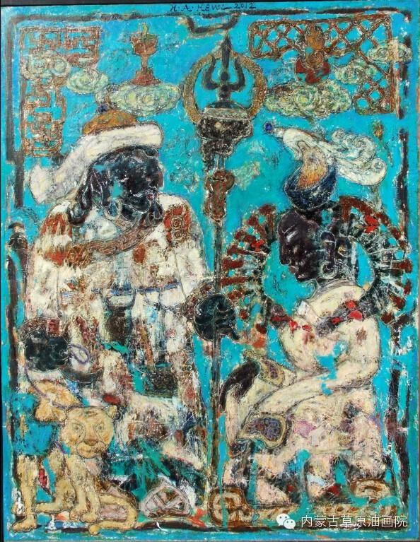 内蒙古草原油画院画家--哈斯乌拉 第3张