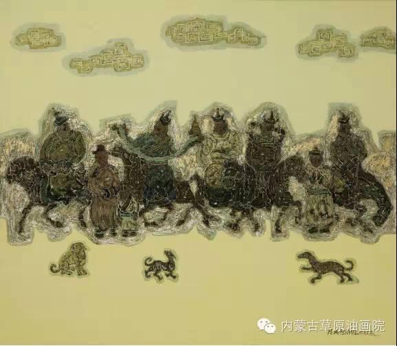 内蒙古草原油画院画家--哈斯乌拉 第7张