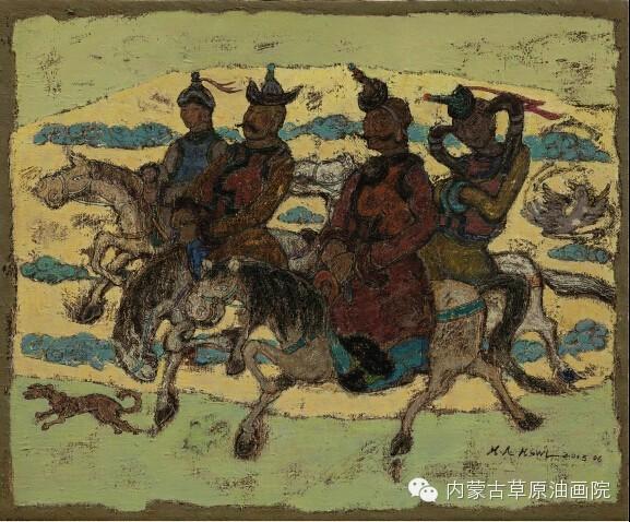 内蒙古草原油画院画家--哈斯乌拉 第9张