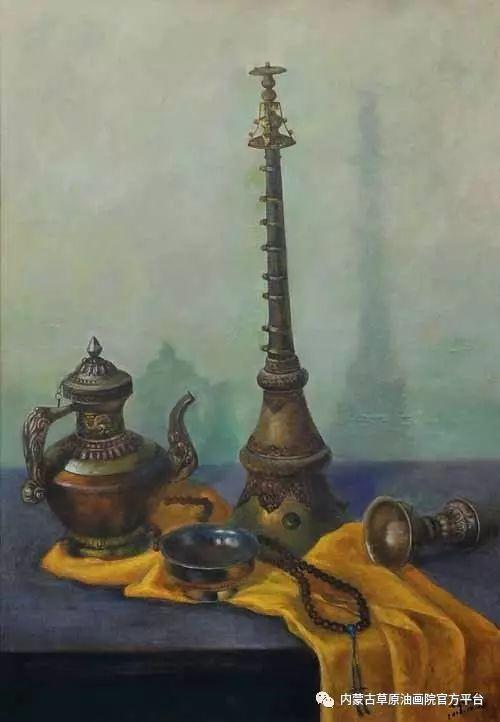 内蒙古草原油画院画家胡乃瑞静物作品 第8张