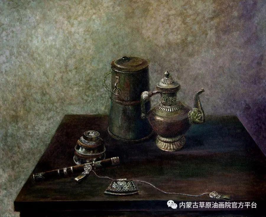 内蒙古草原油画院画家胡乃瑞静物作品 第6张