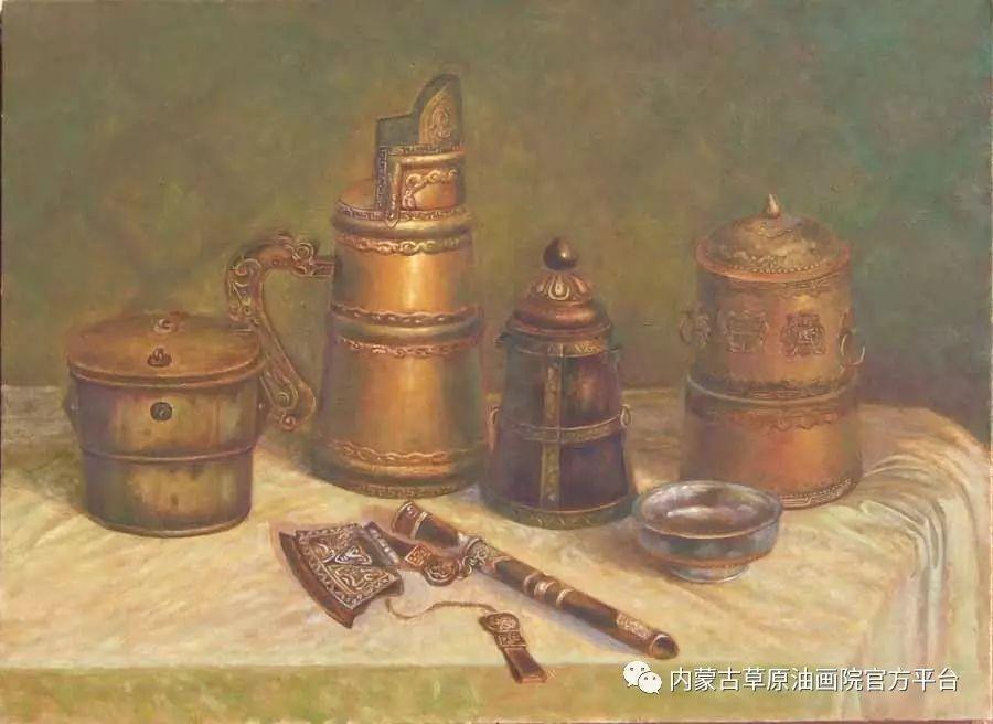 内蒙古草原油画院画家胡乃瑞静物作品 第10张