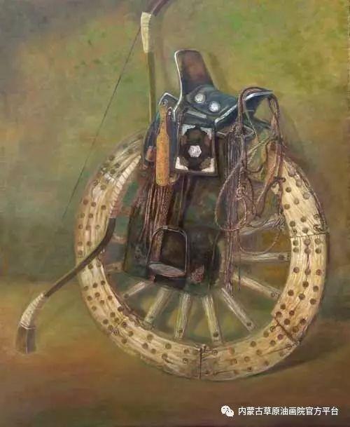 内蒙古草原油画院画家胡乃瑞静物作品 第9张